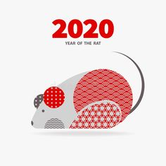2020 Year of the RAT. Rat is a symbol of the 2020 Chinese New Year.