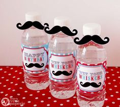 mustache themed birthday party decoration | Little Man Mustache Birthday Party - DIY PRINTABLE Water Bottle Drink ...