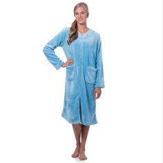 88495f9060  Overstock - Super Plush Zip-front Robe - Stay warm and cozy with the