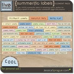 Summerific Labels: Celebrate summer with this huge pack of fifty (50!) summerific labels in soft tones that mimic the best of summertime!