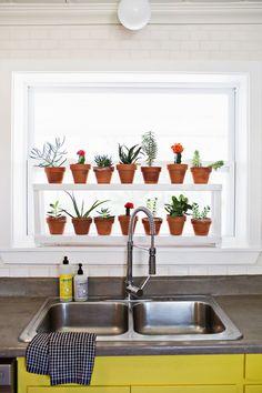 Window Ledge Plant Shelf - A BEAUTIFUL MESS - I need one of these!