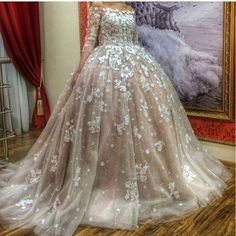Find More Wedding Dresses Information about Gorgeous Princess Champagne Wedding…