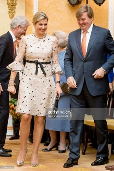 King Willem-Alexander and Queen Maxima of The Netherlands attend the Appeltjes van Oranje Award ceremony for social projects in Palace Noordeinde on May 18, 2017 in The Hague, Netherlands.
