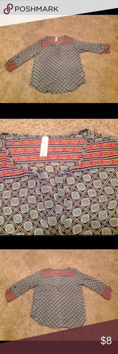 Candy Rose size medium Semi sheer shirt with Aztec print design. Candy Rose Tops
