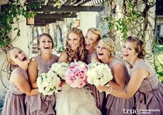 Bride-and-bridesmaids-wedding-bouquets-blush-and-pink