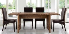 Ethnic dining set in solid wood