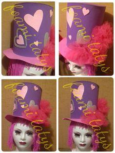 Sombrero loco corazones