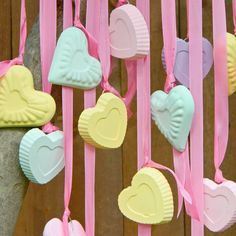 DIY Candy Hearts Wind Chime (and Ornaments)