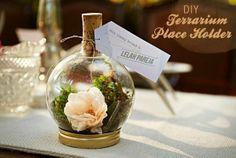 http://www.pinterest.com/pin/13229392629434724/ #DIY ... Xmas bulb + moss + flowers + wine cork + mason jar lid = table top terrarium