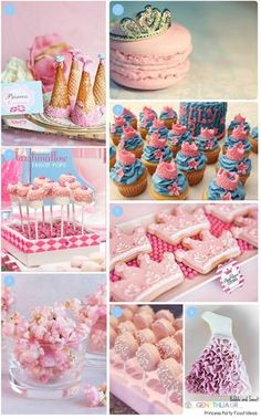 Princess Party Food Ideas! Pink popcorn, pink chocolate covered oreos