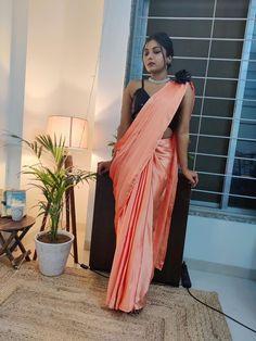 Casual Saree, Saree Styles, Party Wear Sarees, Silk Sarees, Sari, Bridal Sarees, Japan, Designer Sarees, How To Wear