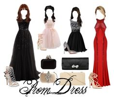 """""""Prom"""" by claire394 ❤ liked on Polyvore featuring Chicwish, Miss Selfridge, Christian Louboutin, Dolce&Gabbana, Steve Madden, Jimmy Choo, Badgley Mischka and Dorothy Perkins"""