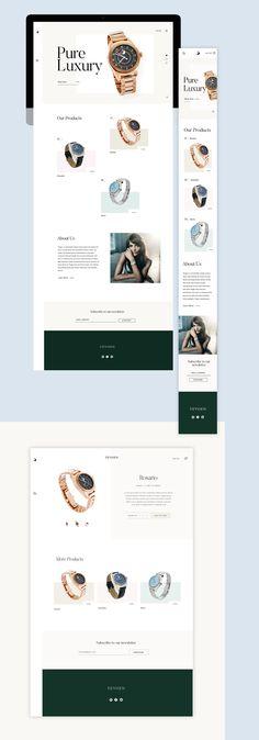 Luxury e-commerce web design Ecommerce Web Design, Web Design Trends, App Design, Mobile Design, Luxury Website, Ui Web, Landing Page Design, Web Layout, User Interface Design