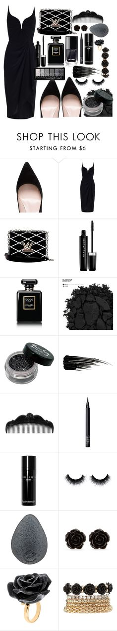 """""""Black As Night"""" by genevievelee ❤ liked on Polyvore featuring Kate Spade, Zimmermann, Louis Vuitton, Marc Jacobs, Chanel, Urban Decay, Anna Sui, NARS Cosmetics, Bobbi Brown Cosmetics and Erica Lyons"""