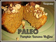 paleo pumpkin banana muffins