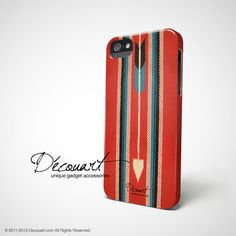 Navajo iPhone 5 case iPhone 4 case red and blue navajo by Decouart, $23.99