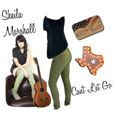"""""""Country artist Sheila Marshall is a Bullet Blues girl!"""" by #bulletblues on Polyvore wearing a Sybille top and Doll #jeans by www.bulletbluesca.com See her site at www.sheialmarshall.com"""