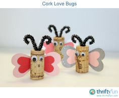 These adorable bugs are easy to make and a great way to use up any corks you have laying around!