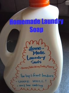 "Homemade laundry detergent - happy hooligans [made from ""exploded"" ivory soap. You can grate the soap, too]"