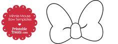 Printable Minnie Mouse Bow Template — Printable Treats.com