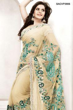 $200 Ravishing Embroidered Net Saree From Cbazaar