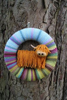 This pattern is to make a decorative Woolly Bully or Highland Cow.