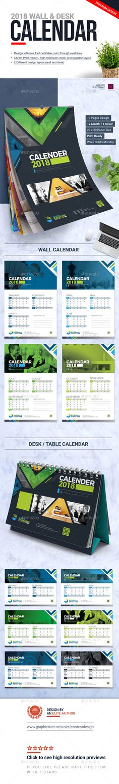 48 Best 2018 Calendar Templates images 2018 calendar template