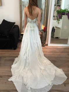 Kendall Wedding gown looking stunning - Last fitting Open Back Wedding Dress, Backless Wedding, Open Back Dresses, Wedding Attire, Wedding Bride, Bridal Gowns, Wedding Gowns, Boho Bride, Looking Stunning