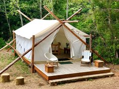 Glamping Tent with Beach Access Check out this Hipcamp in Glamping Tent with Beach Access, Sund Homestead, WA. Photo by Hipcamper, Cindy Sund Camping Glamping, Luxury Camping, Camping Ideas, Camping Hacks, Outdoor Camping, Teepee Tent Camping, Diy Tent, Camping Storage, Camping Organization