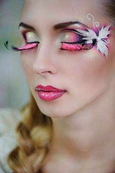 Karneval-Karneval-Make-up-Tipps-Perücken False-wi - Make up Kunstblut Idee Make Up Looks, Fairy Eye Makeup, Make Up Designs, Extreme Makeup, Beauty Make-up, Bella Beauty, Theatrical Makeup, School Makeup, Maquillage Halloween