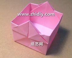 简单手工折纸收纳盒的折纸视频教程教你制作精美的折纸收纳盒
