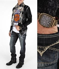 """My guy's looks 8/3""""Go For The Gold"""" #buckle #fashion  www.buckle.com"""