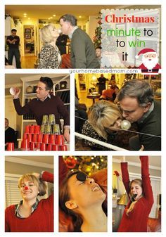 Minute to Win It Games - perfect for your Christmas party or Christmas Eve