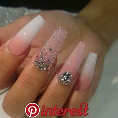 hot acrylic coffin nails trend ideas in 2019 - page 55 o.- hot acrylic coffin nails trend ideas in 2019 – page 55 of 73 52 hot acrylic coffin nails trend ideas in 2019 – page 55 of 73 52 - Bling Nails, Glam Nails, Dope Nails, Rhinestone Nails, Purple Nails, Rhinestone Nail Designs, White Sparkly Nails, Coffin Nails Glitter, Blue Nail