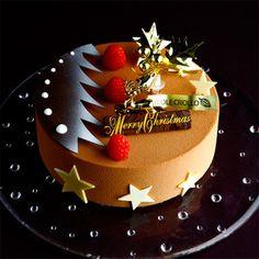 「エコール・クリオロ」人気No.1ケーキのクリスマスバージョン。【新宿店23・24・25日お渡し】カフェ・プラリネ・ノエル