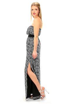 Kocca - Abiti - Abbigliamento - Maxi abito a fascia con stampa a fantasia 292dc71947f