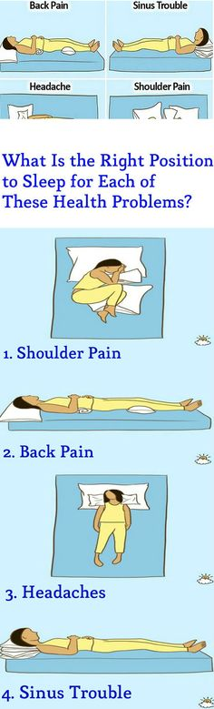 What Is the Right Position to Sleep for Each of These Health Problems? – Stay Healthy Magazine