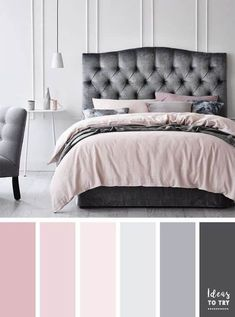 This is a Bedroom Interior Design Ideas. House is a private bedroom and is usually hidden from our guests. Much of our bedroom … Best Bedroom Colors, Bedroom Color Schemes, Colour Schemes, Decorating Color Schemes, Decorating Ideas, Deco Design, My New Room, Beautiful Bedrooms, House Colors