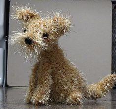 Crocheted puppy- a little Alladin!!