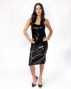 Own the Night Sequin Dress - alma boutique Black Sequin Dress f7369af9d