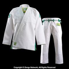 Inverted Gear Gold Weave Panda White Jiu Jitsu Gi. Free Shipping. Free 365 Day Returns