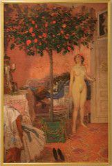 Józef Mehoffer (1869- 1946) Pink Chamber in Jankowce, (1907-1913), oil on canvas (Sergei P. Zubkov) Tags: november art painting czech prague praha fair palace trade 2011 palác veletržní