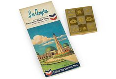 Vintage Los Angeles Compact & Map.  Remember when you could get maps for free at the gas stations?