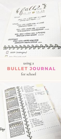 Bullet Journal for School -- setting yourself up for success with your planner or bullet journal this semester! #bujo #bulletjournal