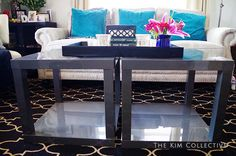lack side table hack glossy cubes