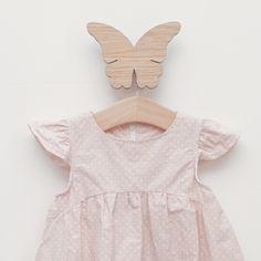 Scandinavian Design for girls room - Hagelens Wooden Hook in Butterfly.
