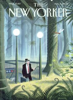 "The New Yorker - Monday, August 5, 2002 - Issue # 3993 - Vol. 78 - N° 22 - Cover ""Last Stop"" by Eric Drooker"