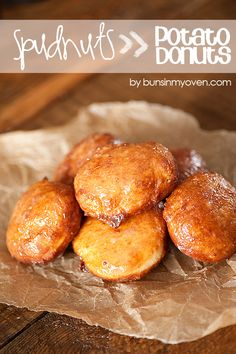 Spudnuts (Mashed Potato Donuts) are a fun twist on the classic yeast donut! recipe from bunsinmyoven.com