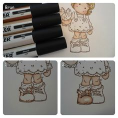 ProMarker new tilda tutorial Alcohol Markers, Copic Markers, Pro Markers, Alcohol Inks, Coloring Tips, Colouring Pages, Food Coloring, Magnolia Colors, Coloring Tutorial