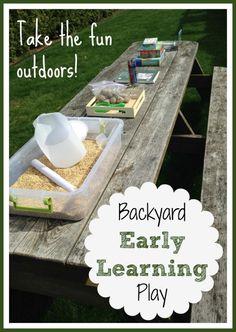 Backyard Early Learning Activities